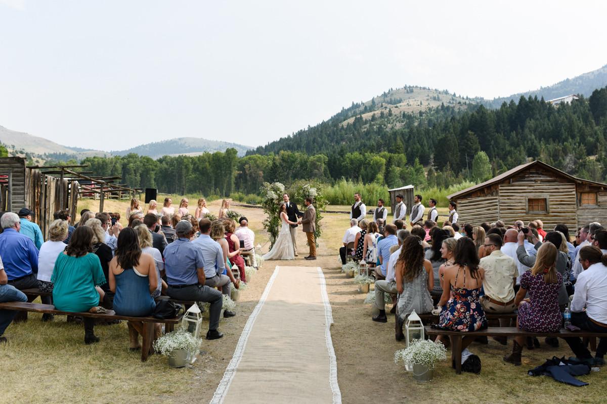Virginia City Montana wedding day ceremony