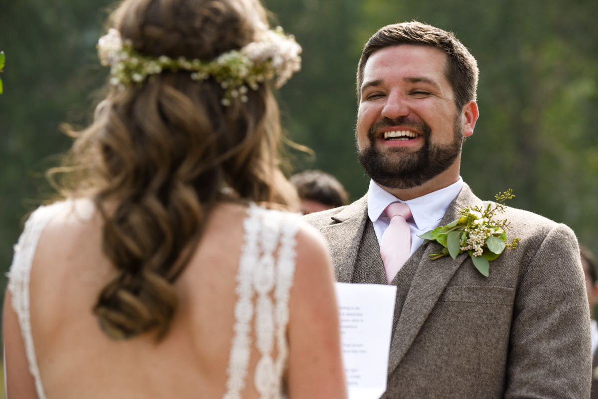 Virginia City Montana wedding day ceremony groom
