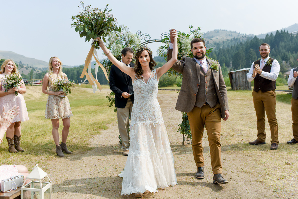 Virginia City Montana wedding day ceremony celebrate