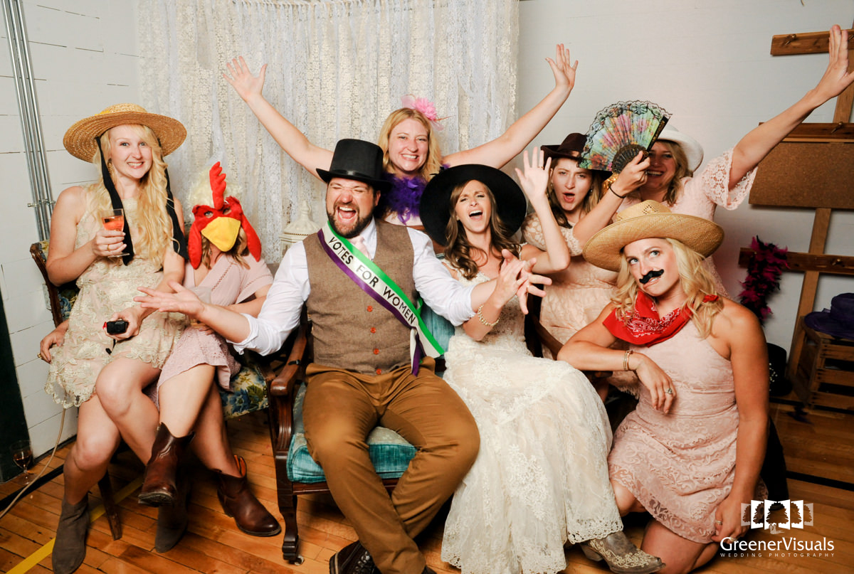 Virginia City Wedding Day Photo Booth Of Marissa And Tyler Greener
