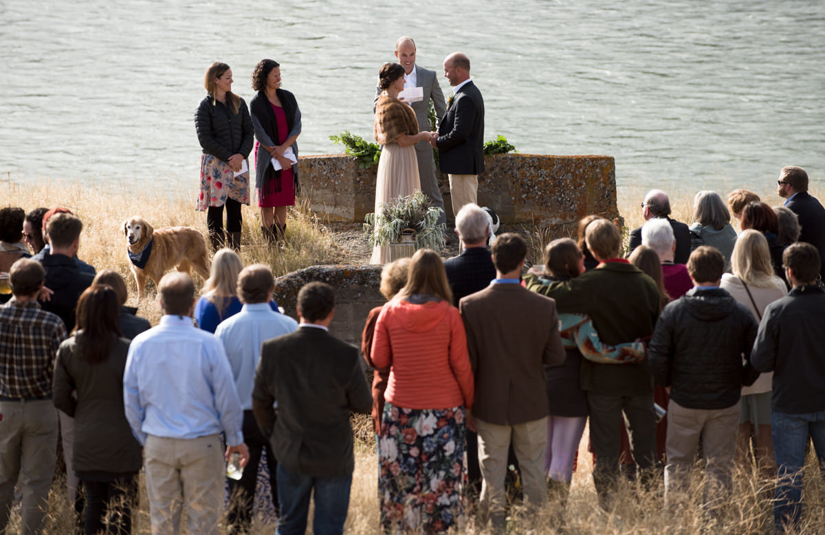 Paradise Valley Montana Wedding ceremony yellowstone river