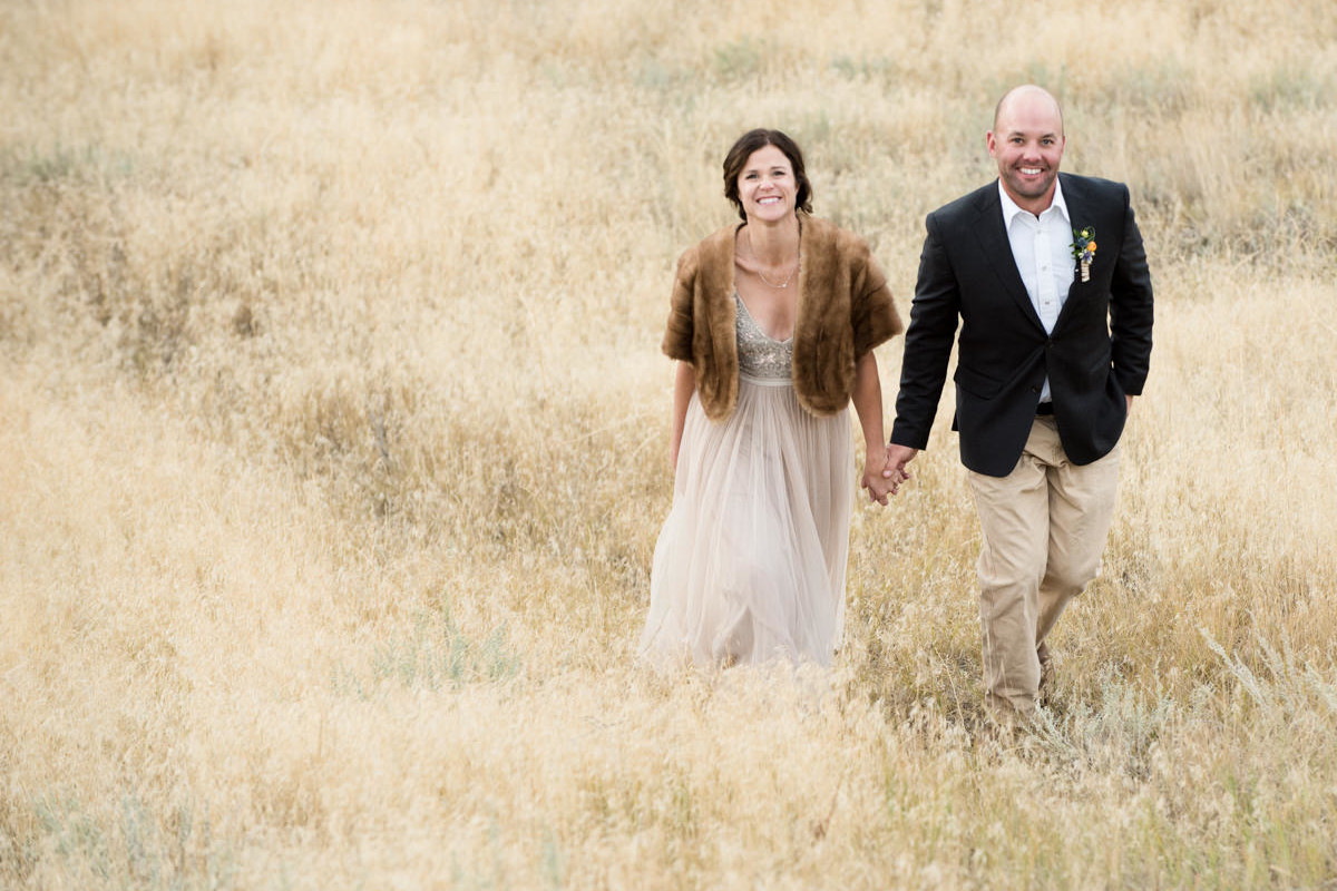 Paradise Valley Montana Wedding bride groom walk
