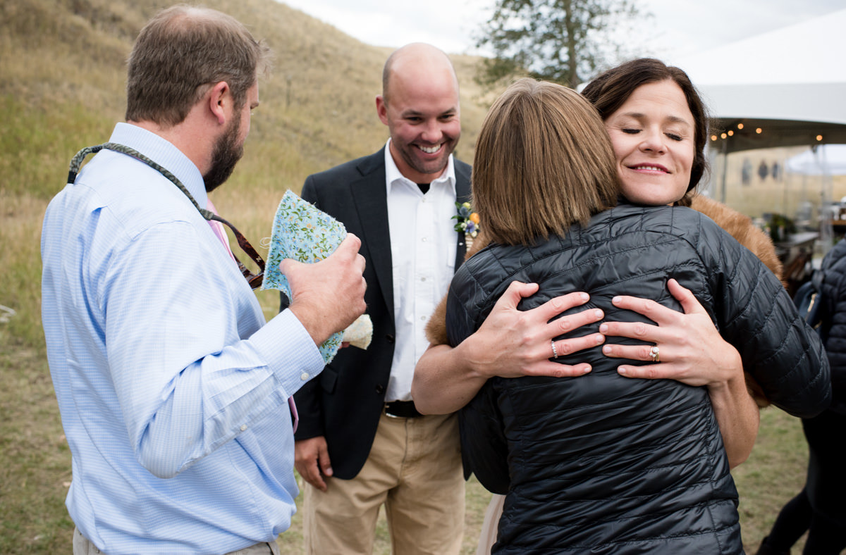 Paradise Valley Montana Wedding bride hug