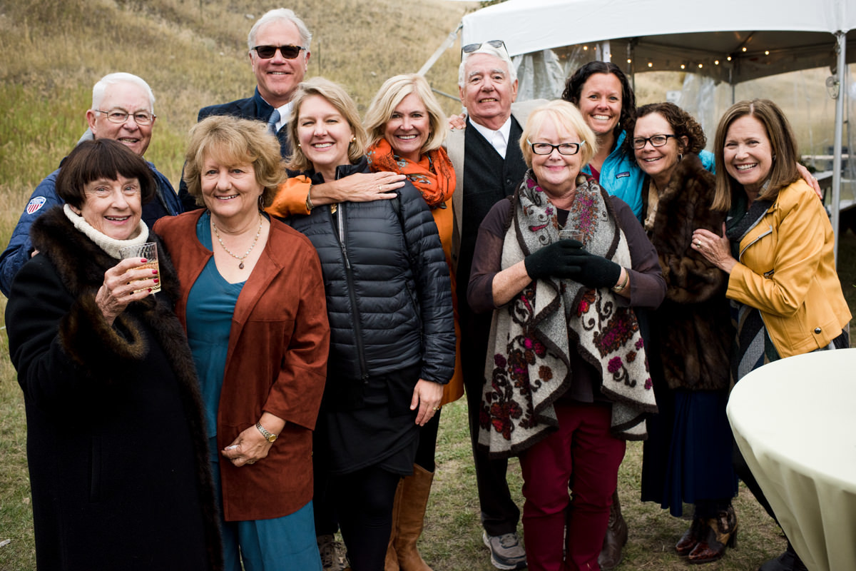 Paradise Valley Montana Wedding friend group portrait
