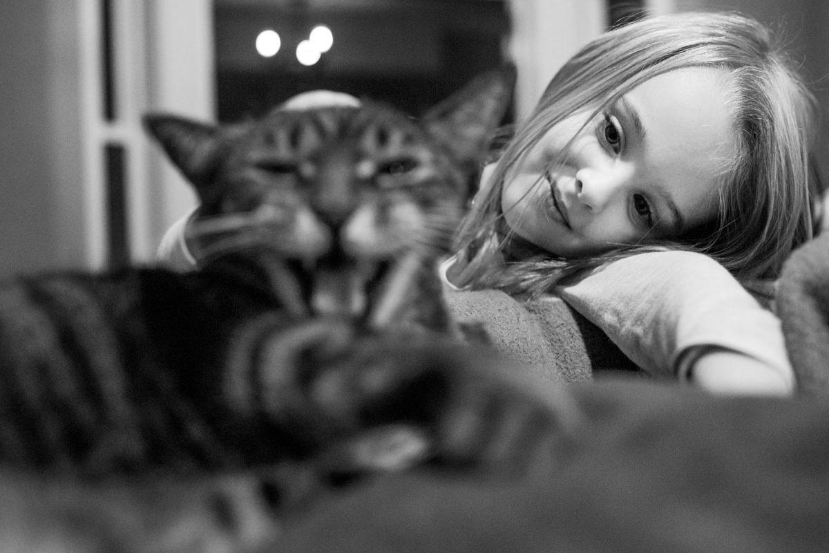 Bellingham Washington Daughter Cat Portrait