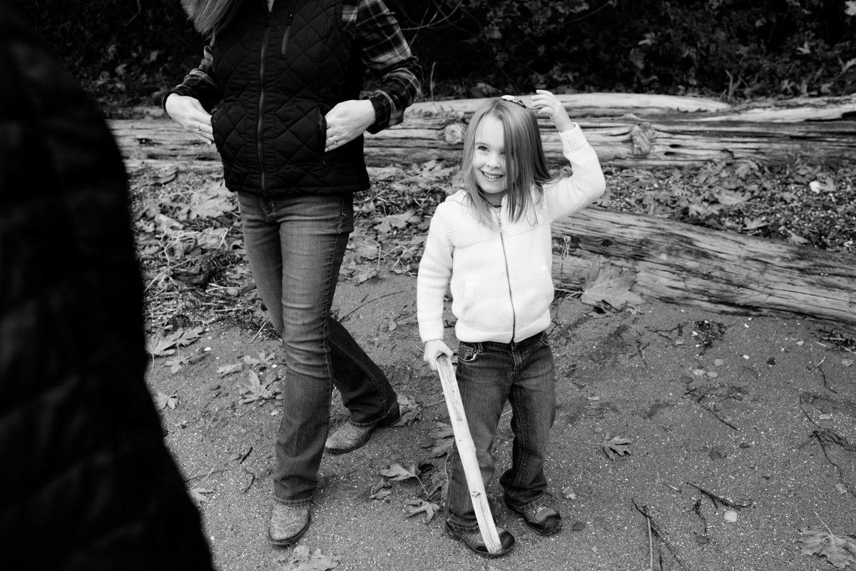 Bellingham Washington Family Portrait Beach walk