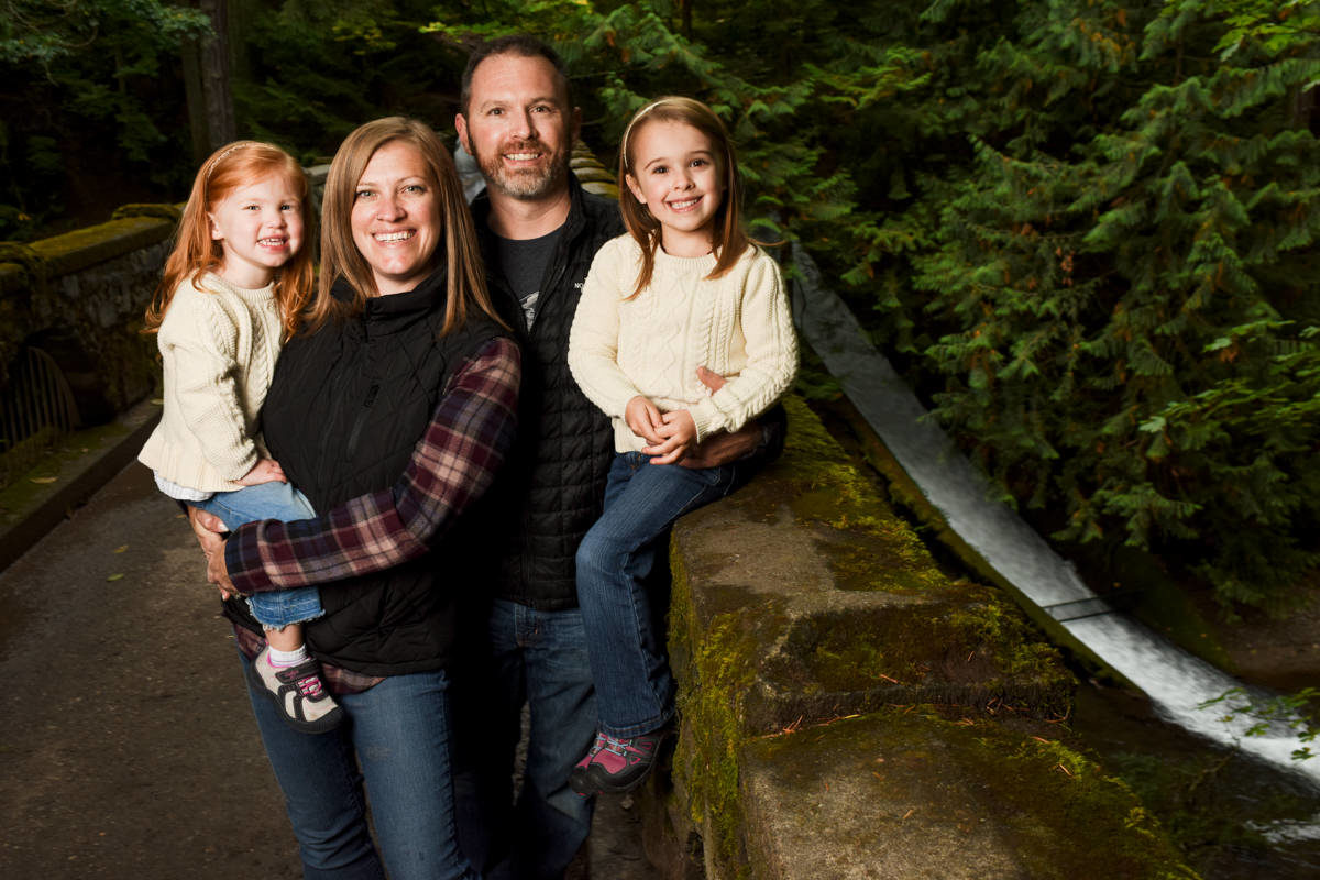 Bellingham Washington Family Portrait Session Green bridge
