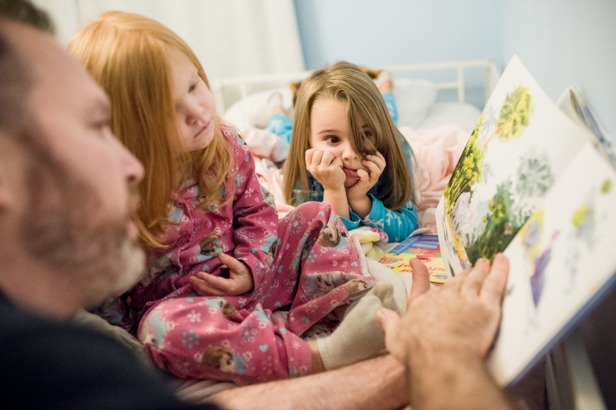 Bellingham Washington Family Portrait Kids Book Read