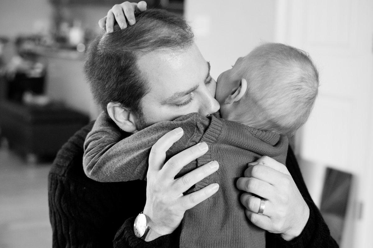 Dax Dad Hug Son Family Portrait