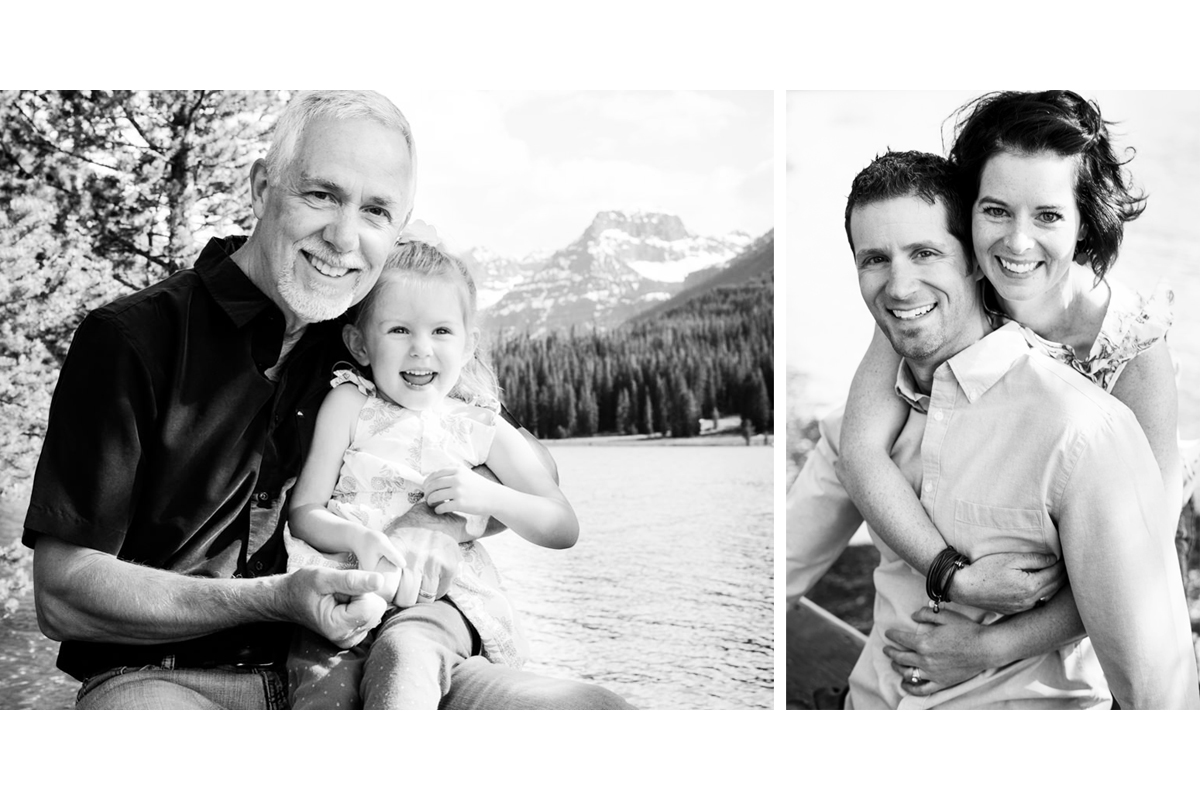 Hyalite Canyon Family Portrait Mountains Montana