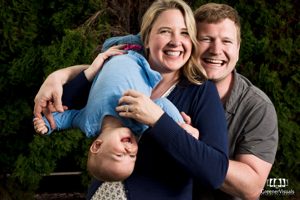 Missoula Montana Family Portrait Baby Laugh