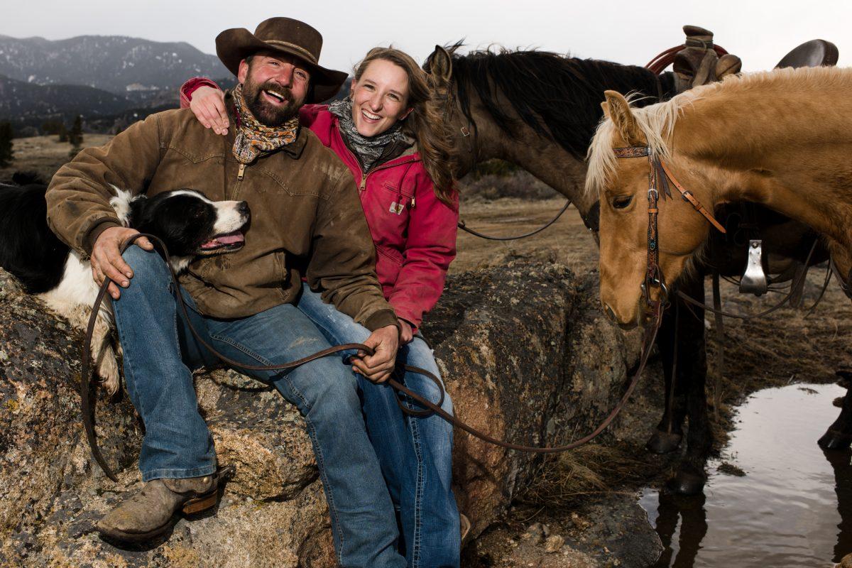 Norris Montana Cowboy Couples Portrait Photography