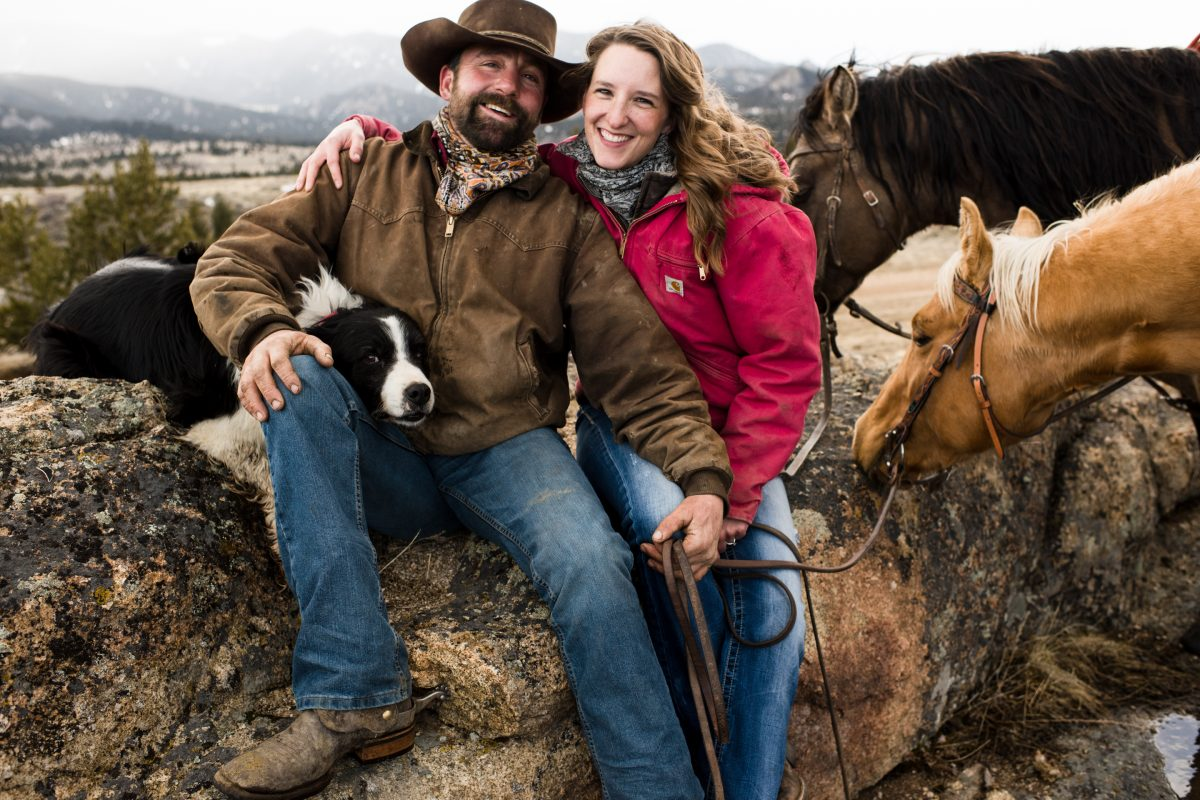 Norris Montana Cowboy Couples Portrait Photography