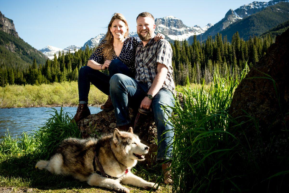 Bozeman Engagement Photographer Hyalite Canyon couple portrait