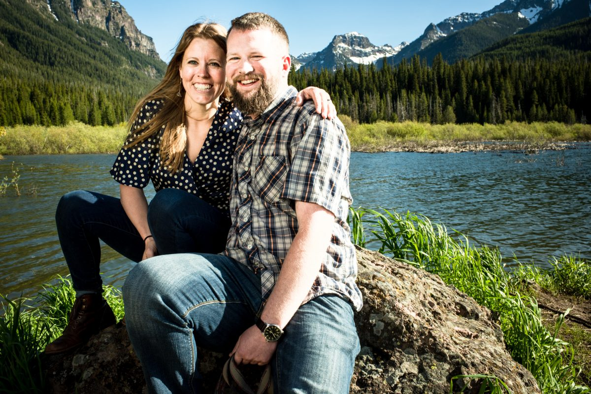 Bozeman Engagement Photographer Hyalite Canyon couple portrait