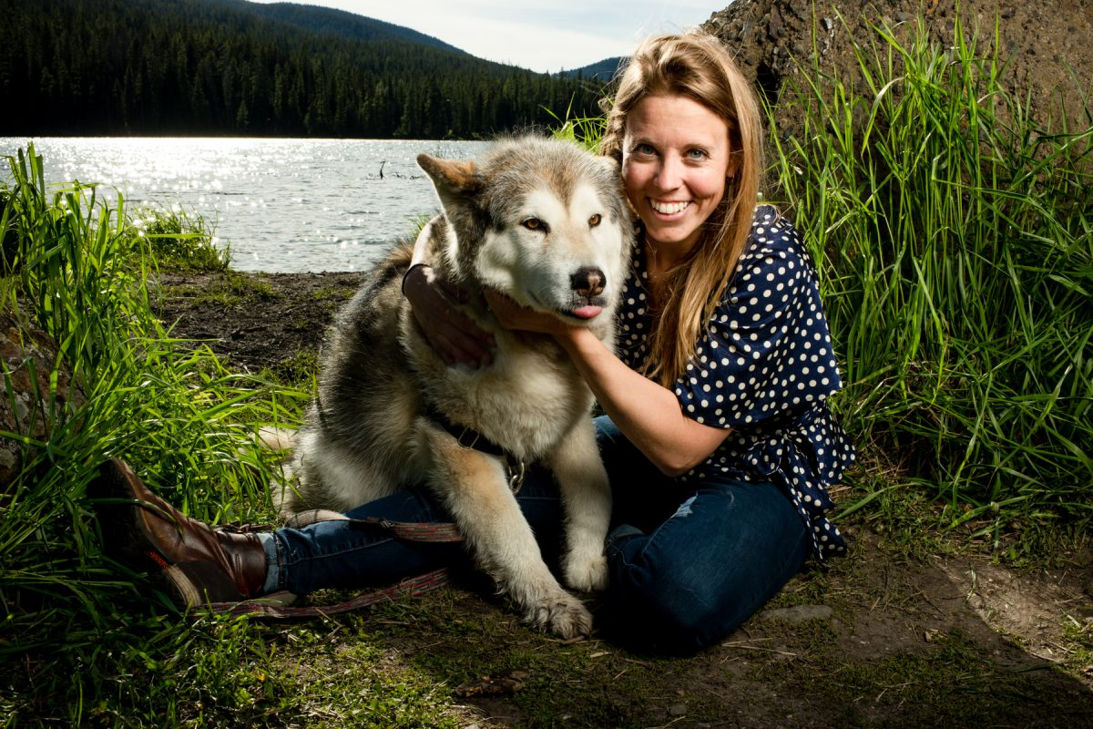 Bozeman Engagement Photographer Hyalite Canyon dog portrait