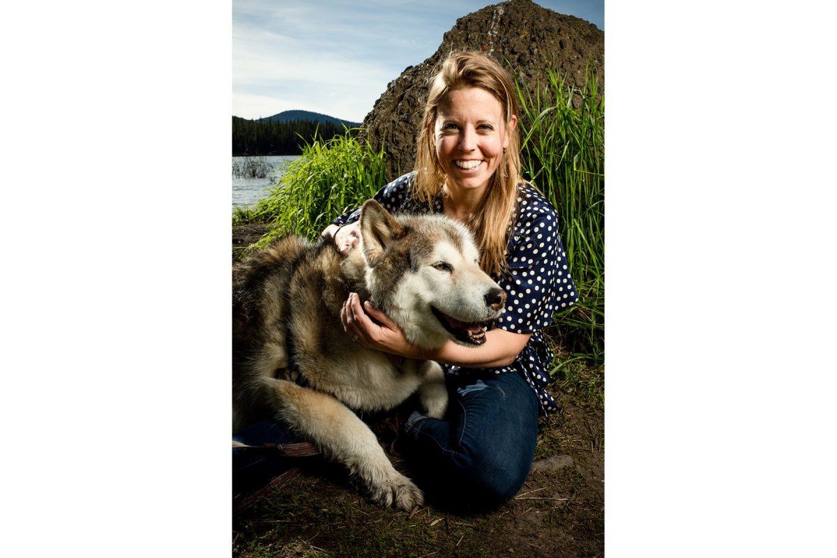 Bozeman Engagement Photographer Hyalite Canyon dog portrait