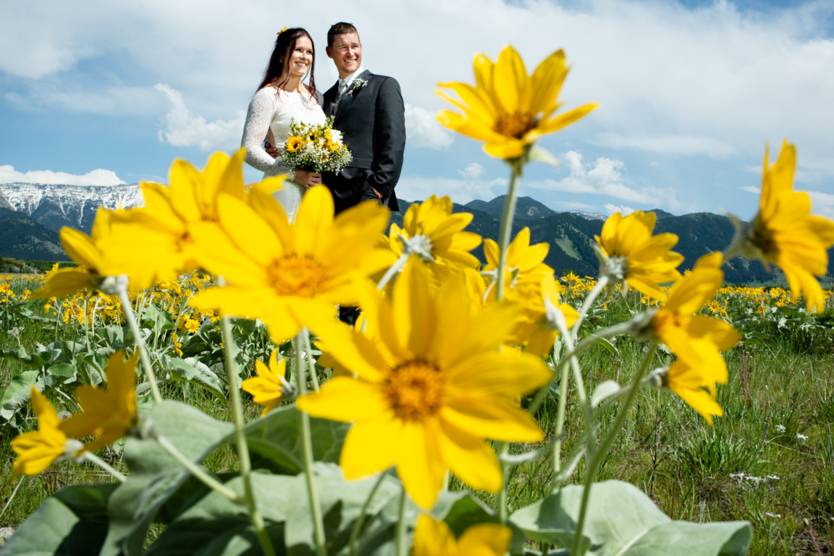 Montana Wedding Photographer Springhill Pavilion couple portrait