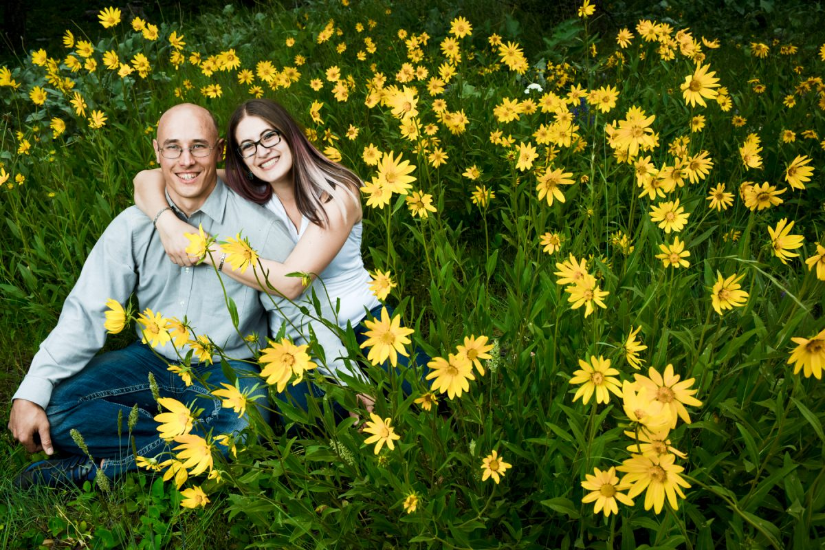 Bozeman Engagement Photographer Middle Cottonwood Canyon couple