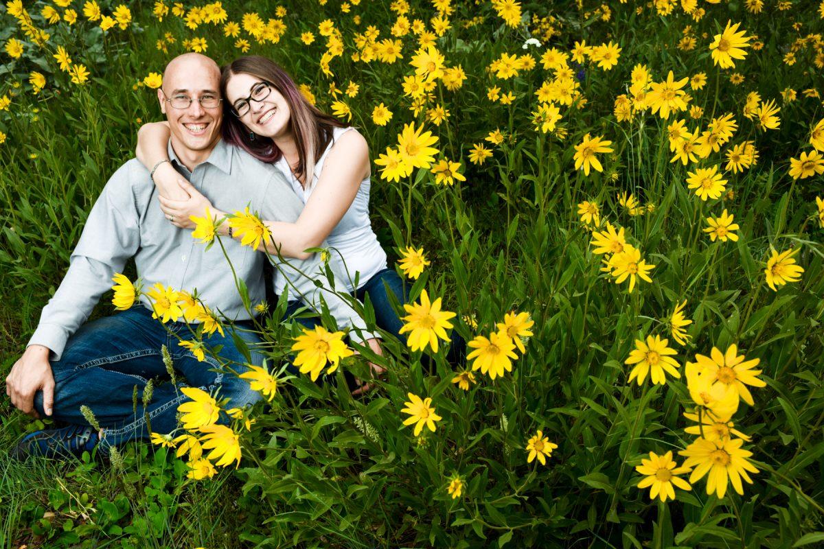 Bozeman Engagement Photographer Middle Cottonwood Canyon couple