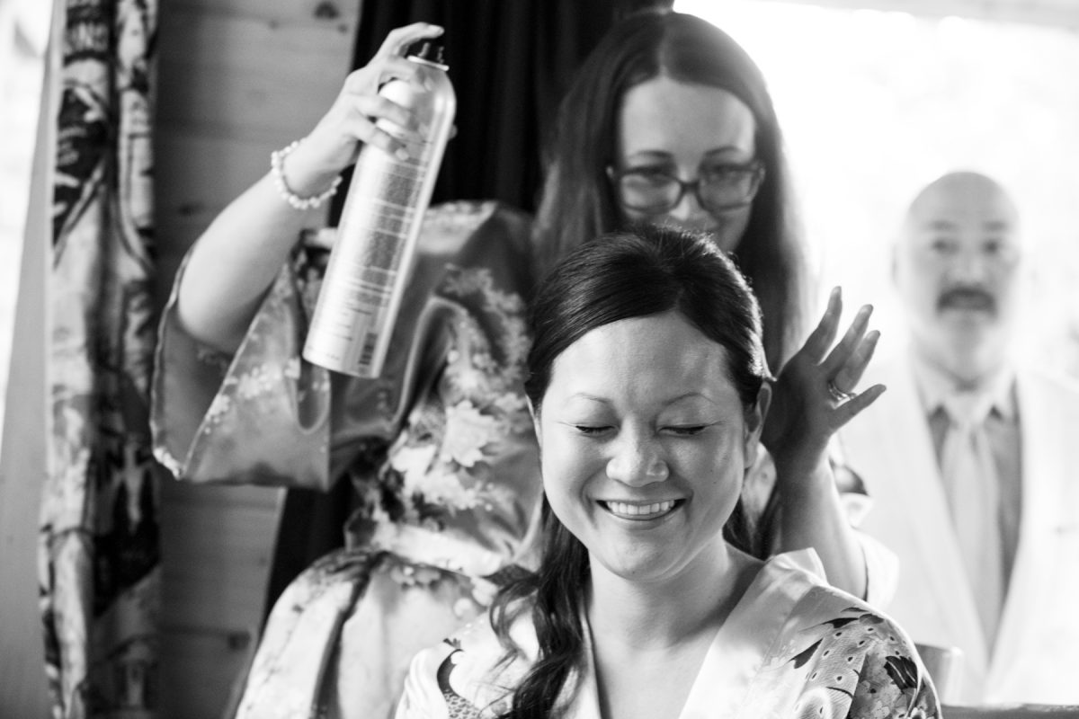 Livingston Wedding Photographer Yellowstone River bride hair