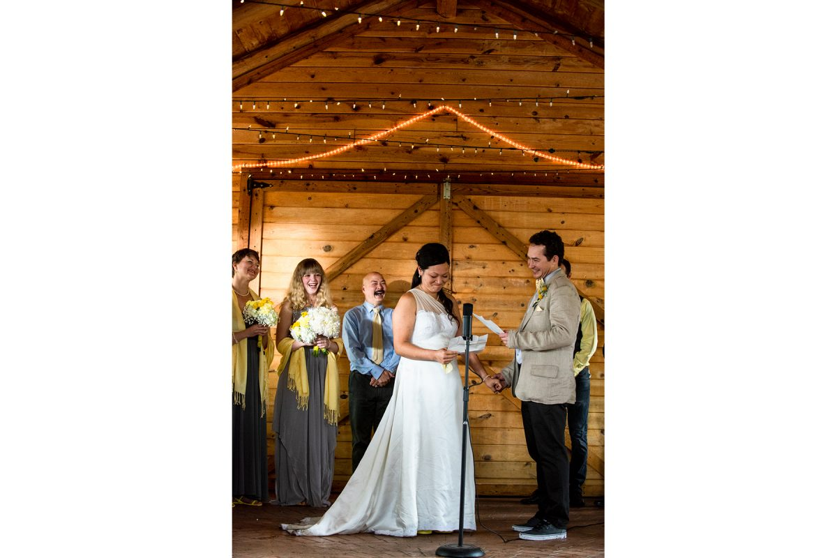 Livingston Wedding Photographer Yellowstone River wedding ceremony