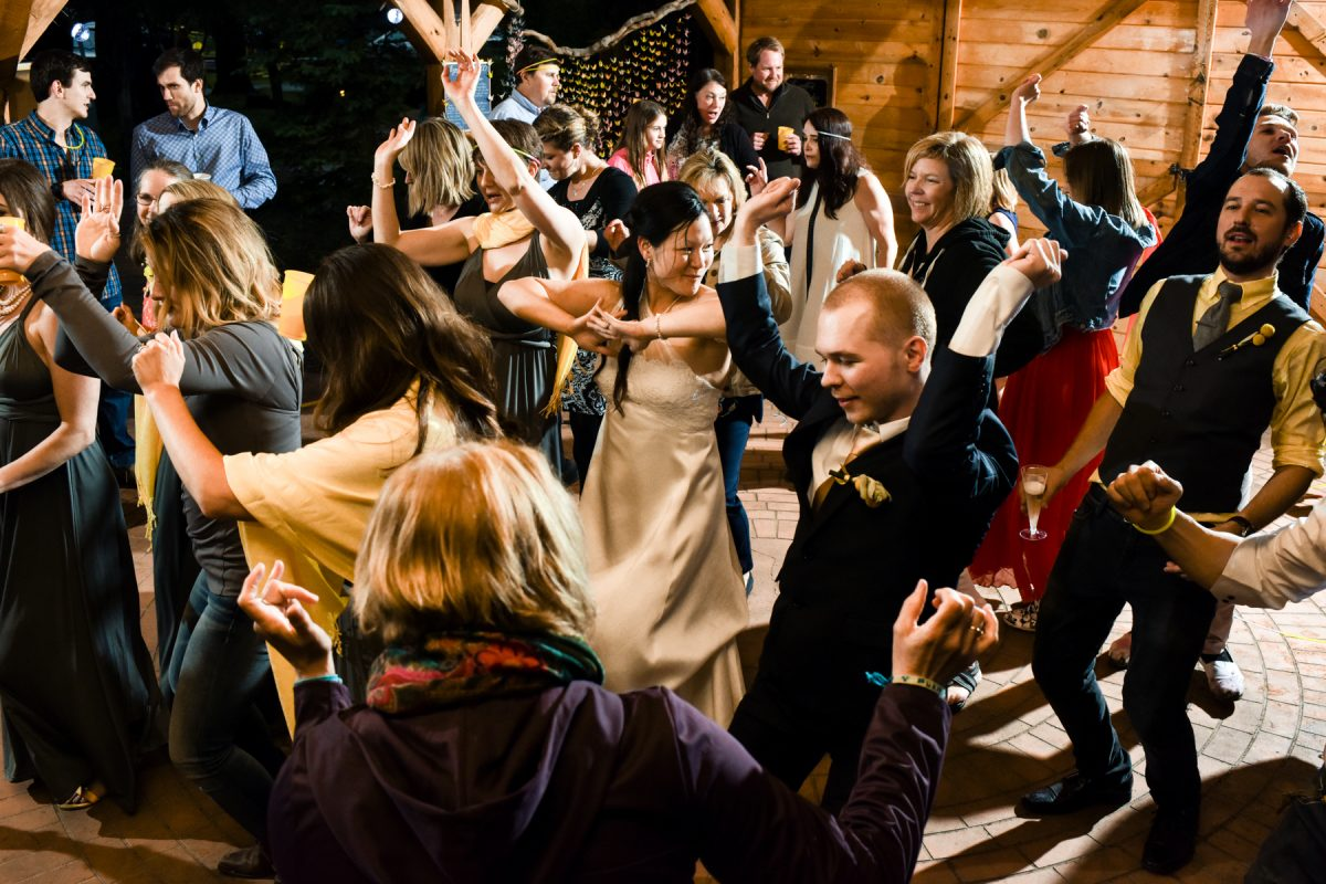 Livingston Wedding Photographer Yellowstone River reception dancing