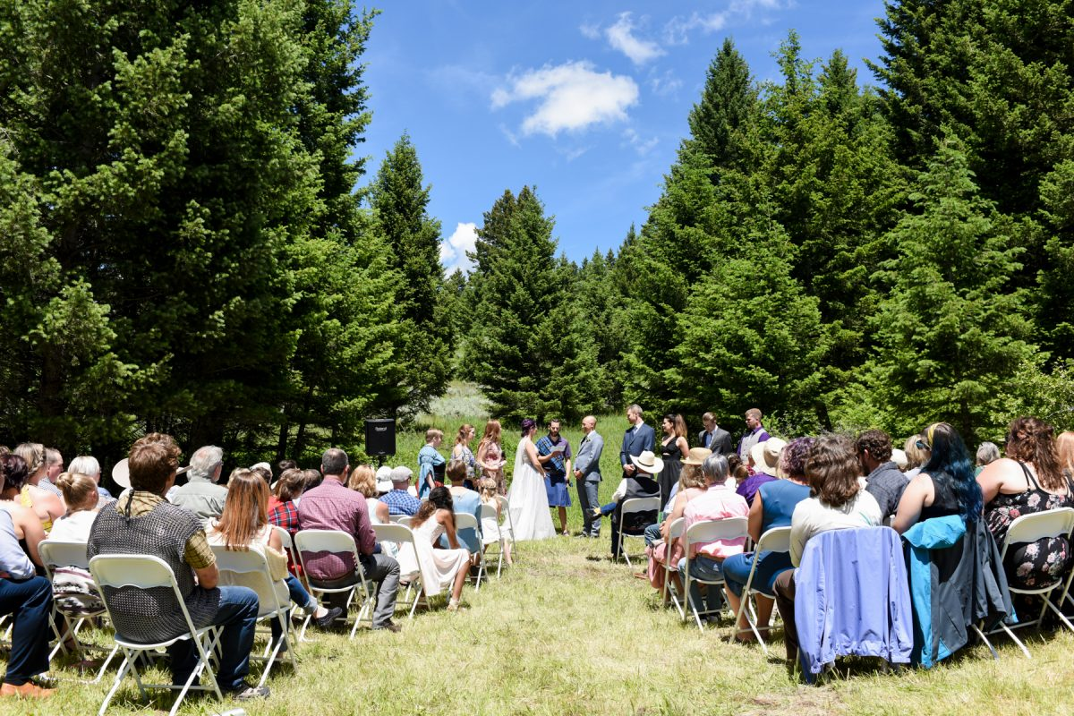 Bozeman Wedding Photographer Kelly Canyon Quaker Wedding ceremony