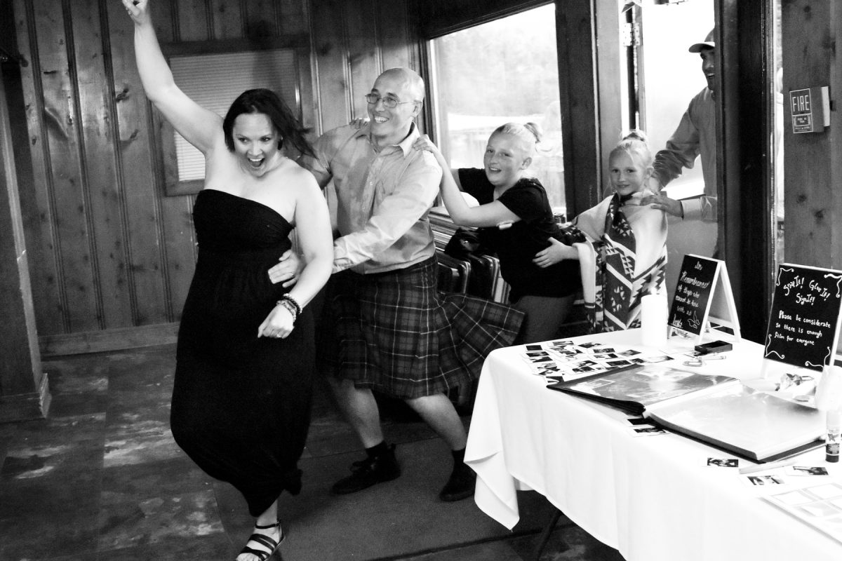 Bozeman Wedding Photographer Kelly Canyon Quaker Wedding reception
