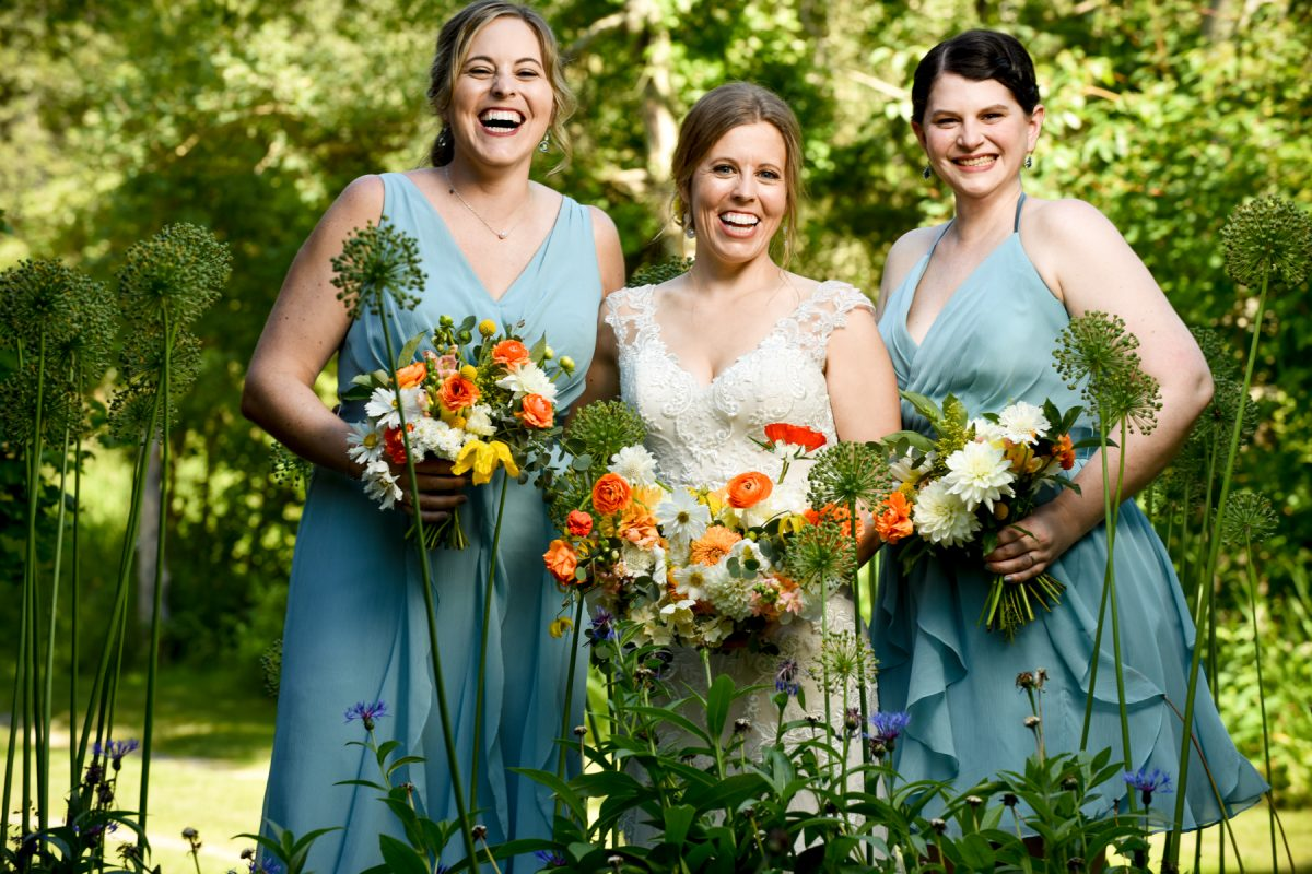Bozeman Wedding Photographer Springhill Pavilion bridesmaids portrait