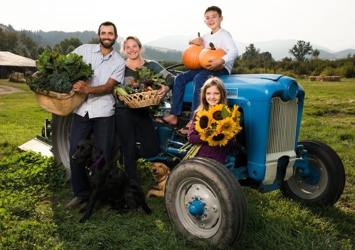 Bozeman Portrait Photography Gallatin Valley Botanical Farm family portrait