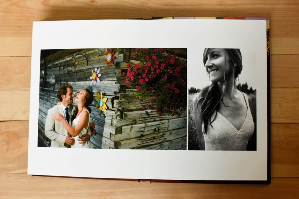 Bozeman Wedding Photography Album Page example