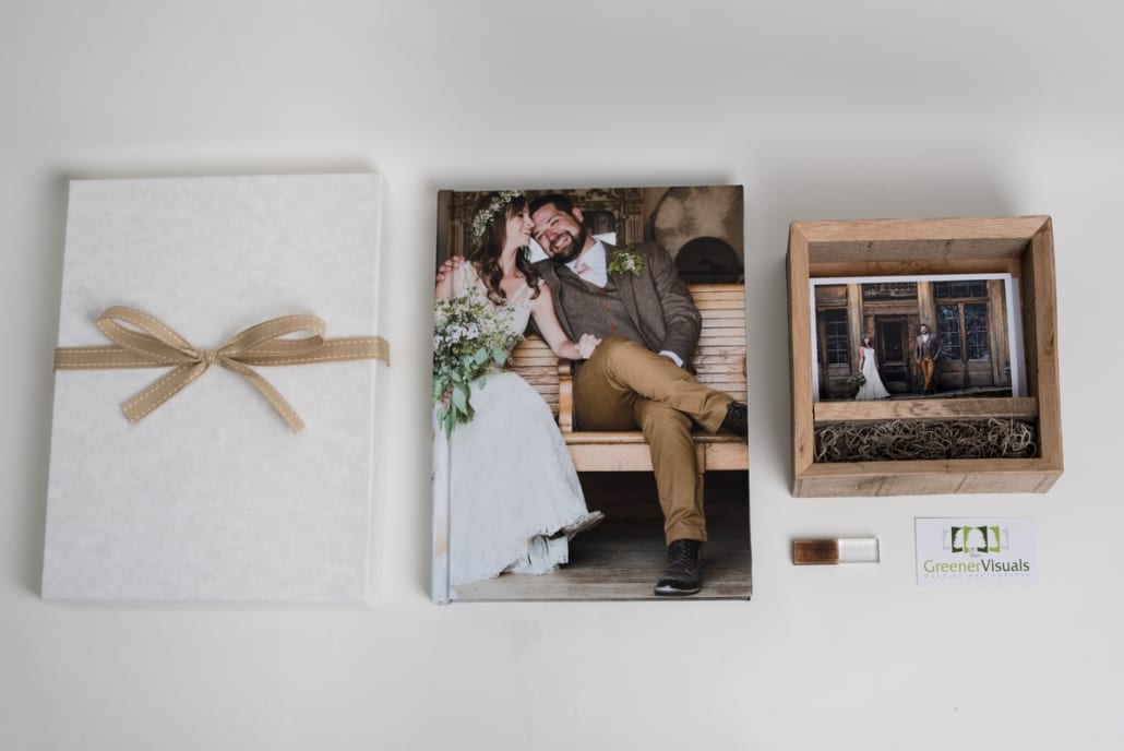 Bozeman Wedding Photography Album PhotoBox Thumb drive