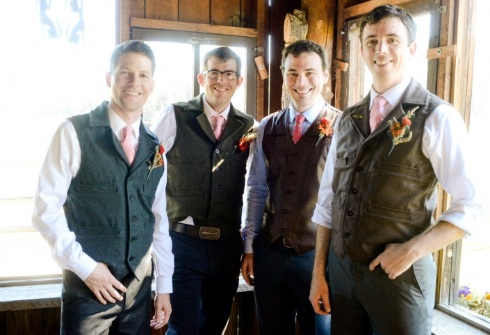 Montana Wedding Photographer Abbott Valley Homestead groomsmen