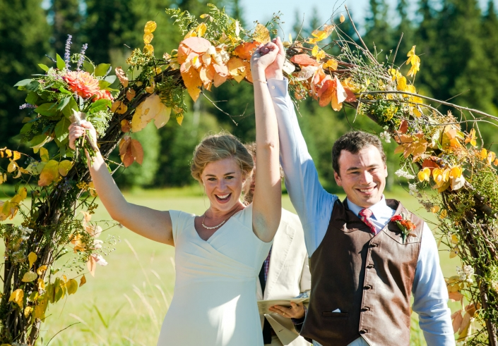 Montana Wedding Photographer Abbott Valley Homestead wedding ceremony