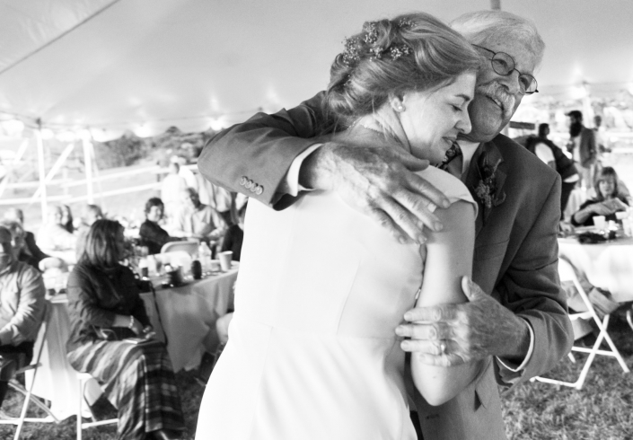 Montana Wedding Photographer Abbott Valley Homestead father daughter dance