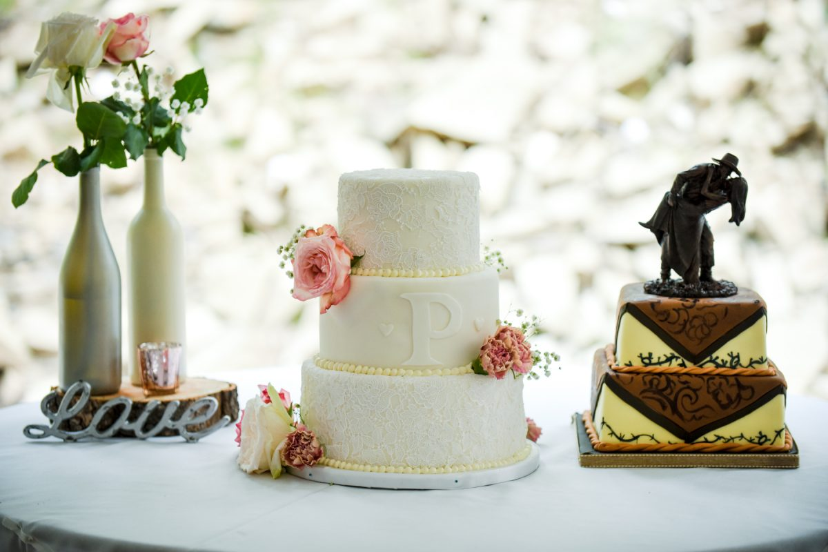 Livingston Wedding Photographer cowboy wedding cake