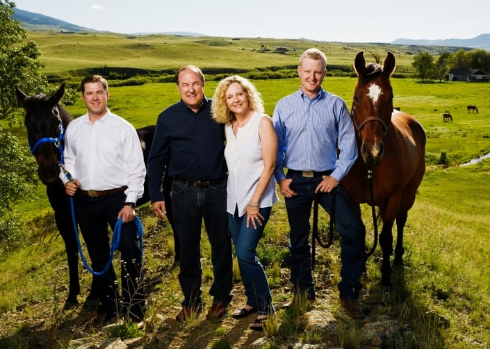 Bozeman Pet Photography Horses Family portrait