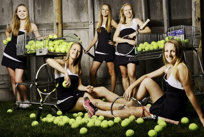 Bozeman Portrait Photography tennis sport team group photo