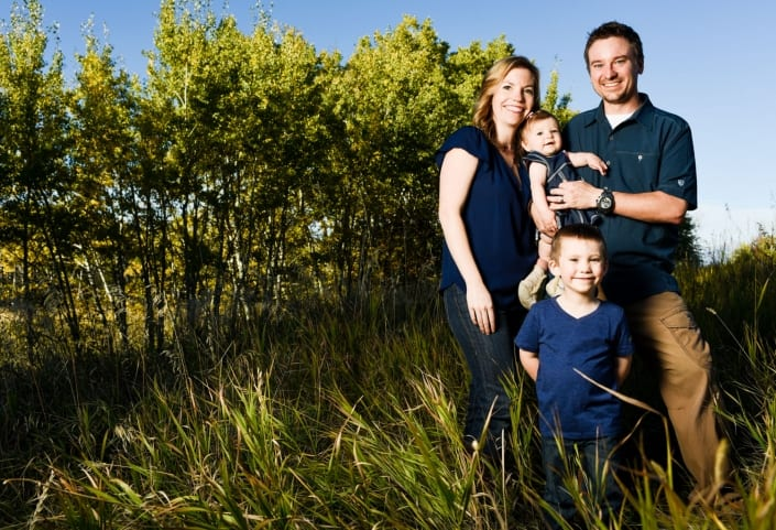 Bozeman Family Photography group portrait wearing blue