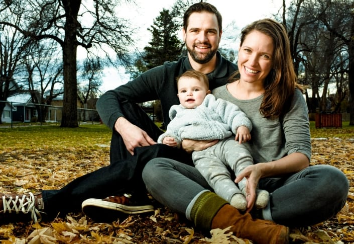 Bozeman Family Photography portrait with infant