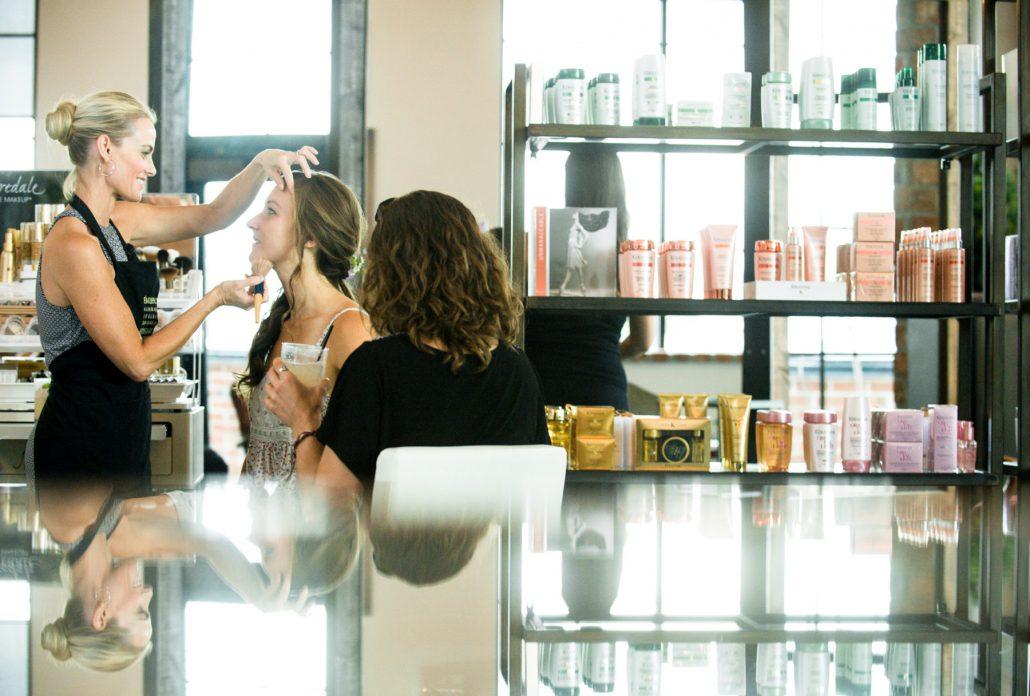 Montana Wedding Photographer bride getting ready The Loft Salon