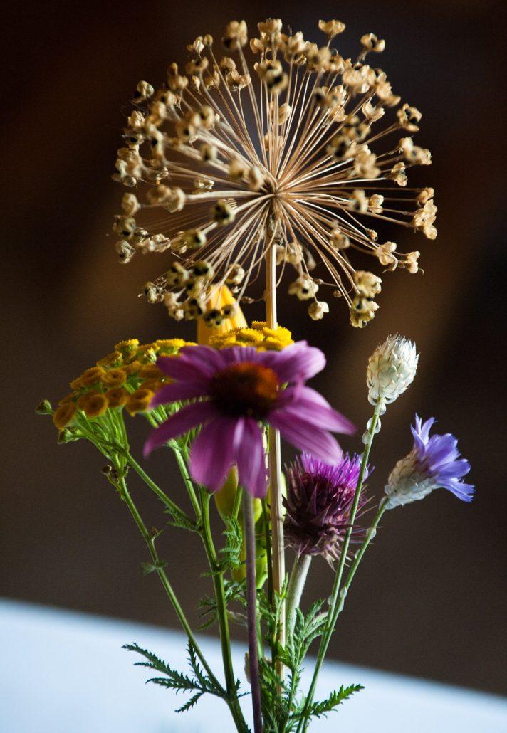 Montana Wedding Photographer Springhill Pavilion yellow purple flowers
