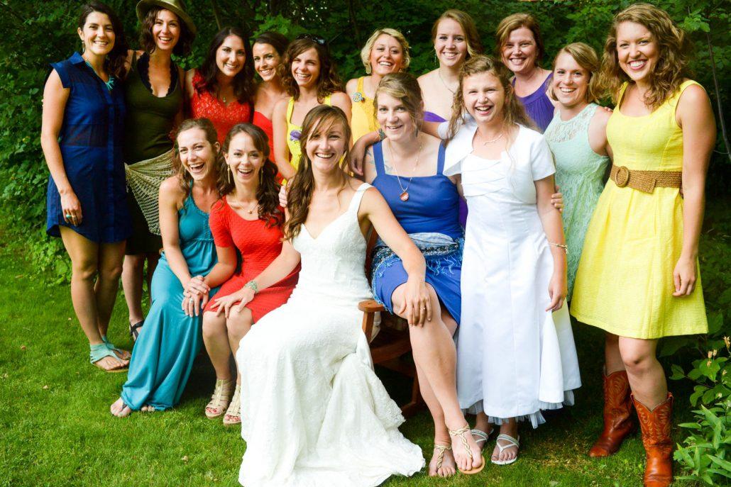 Montana Wedding Photographer Springhill Pavilion bridesmaids