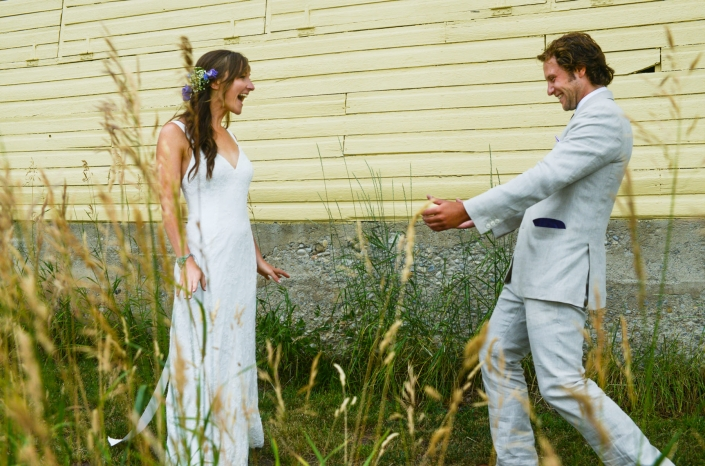 Montana Wedding Photographer Springhill Pavilion bride and groom first look