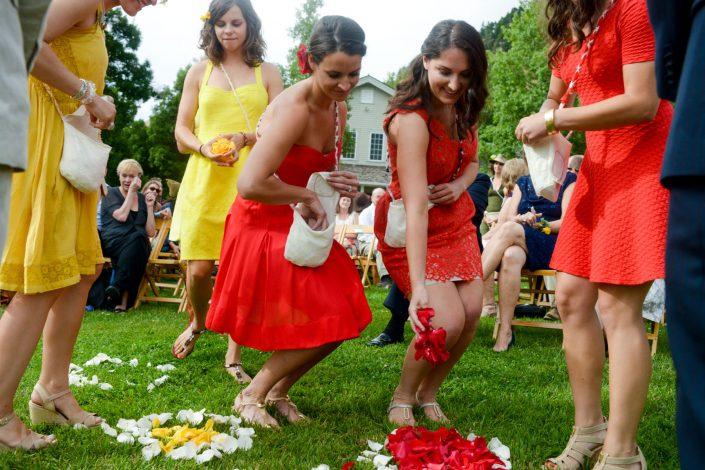 Montana Wedding Photographer Springhill Pavilion wedding ceremony