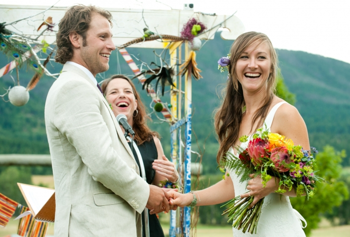 Montana Wedding Photographer Springhill Pavilion wedding ceremony