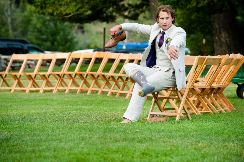 Montana Wedding Photographer Springhill Pavilion groom