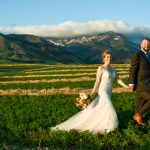 Bozeman Wedding Photographer Springhill Pavilion Bridger Mountains couple portrait