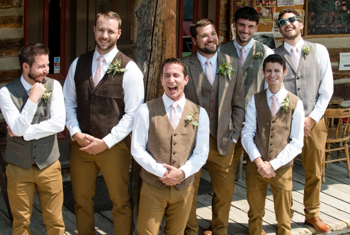 Montana Wedding Photographer Virginia City groomsmen portrait
